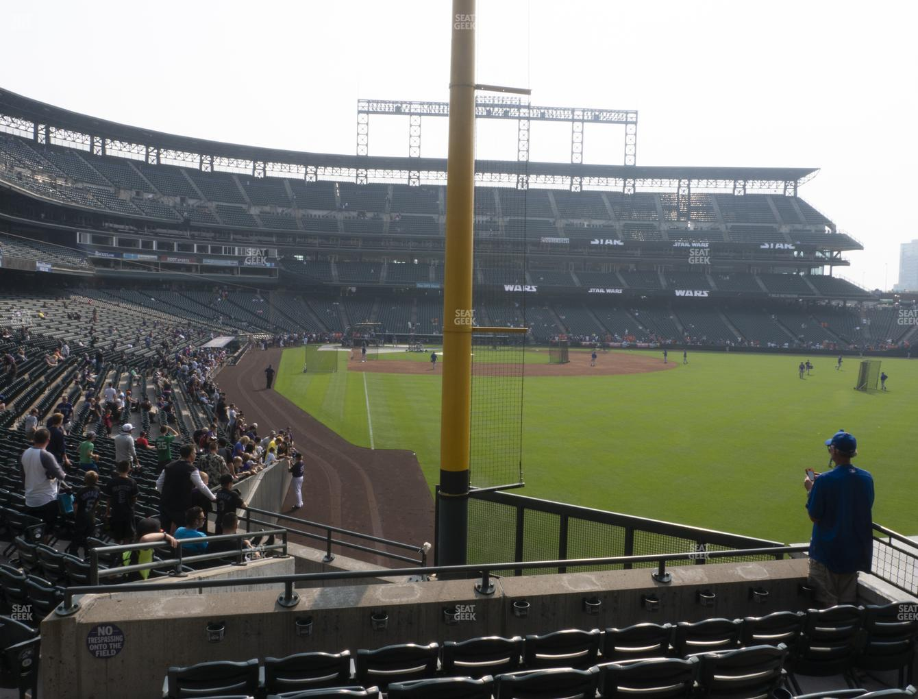 Colorado Rockies at Coors Field Section 109 View