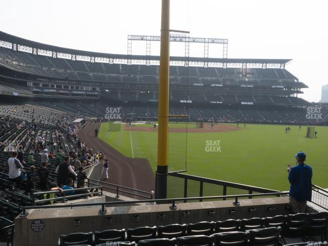 Coors Field Section 109 view