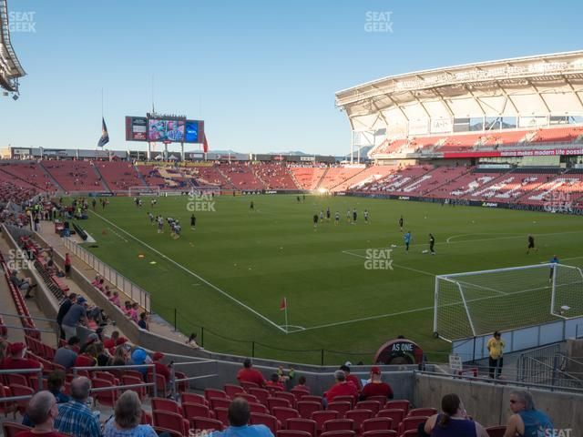 Rio Tinto Stadium Section 13 view