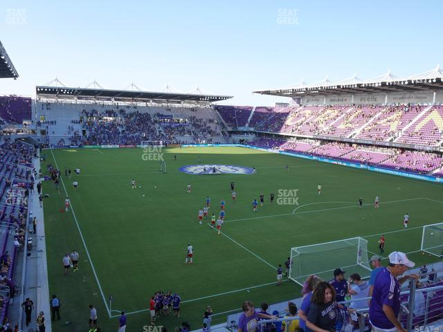 Exploria Stadium Section 107 view