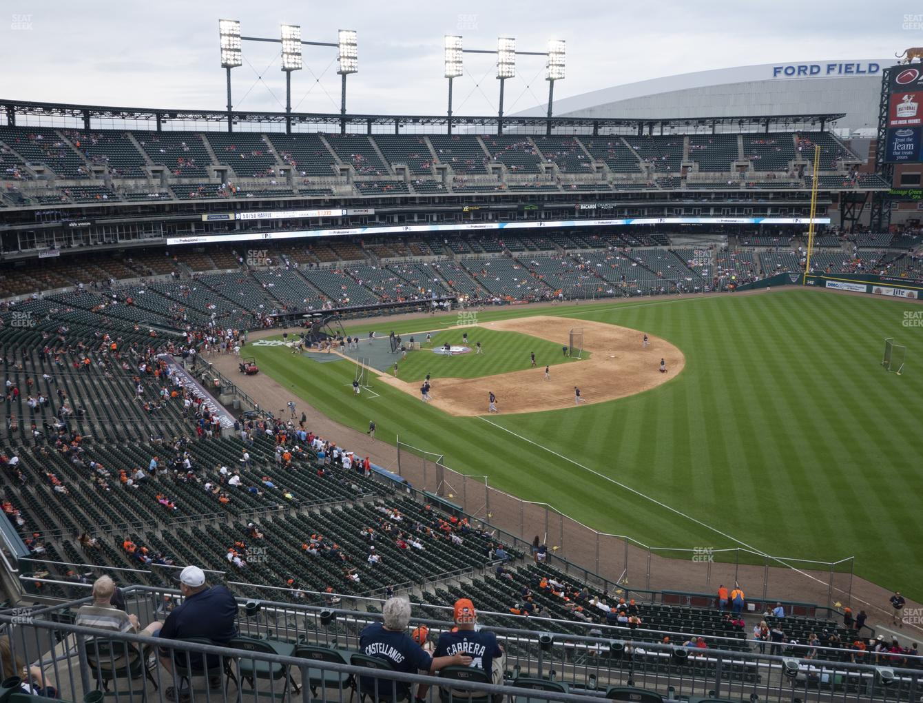 Detroit Tigers at Comerica Park Section 213 View