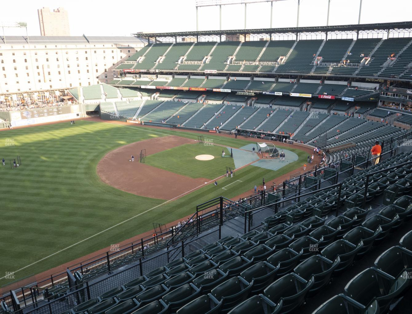 Baltimore Orioles at Oriole Park at Camden Yards Section 362 View