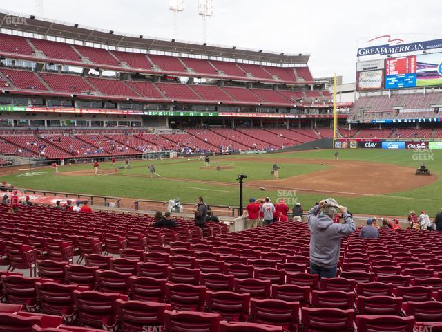 Great American Ball Park Section 132 view