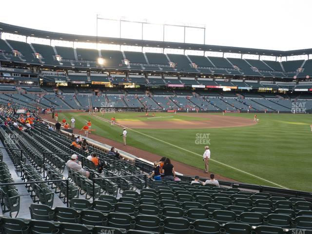 Oriole Park at Camden Yards Section 6 view