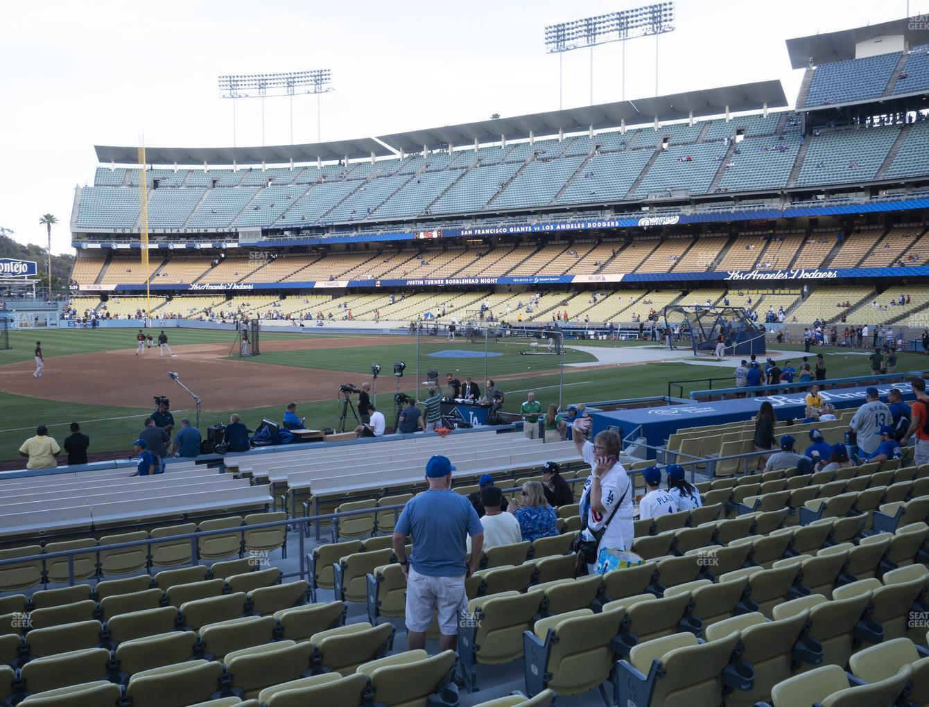 Los Angeles Dodgers at Dodger Stadium Field Box 31 View