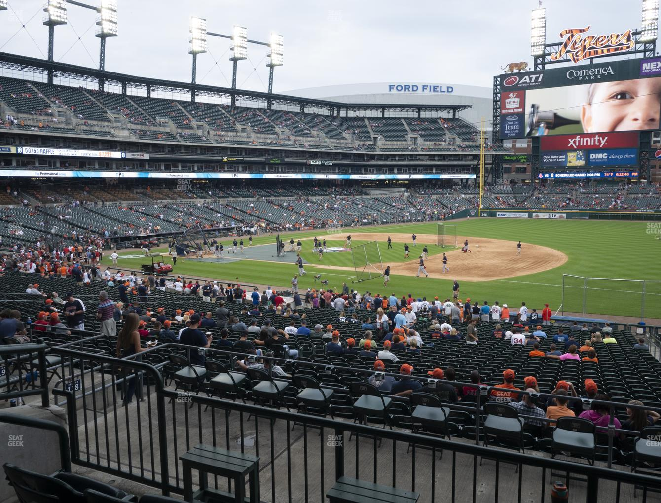 Detroit Tigers at Comerica Park Section 118 View