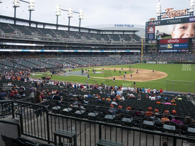 Comerica Park Section 118 view