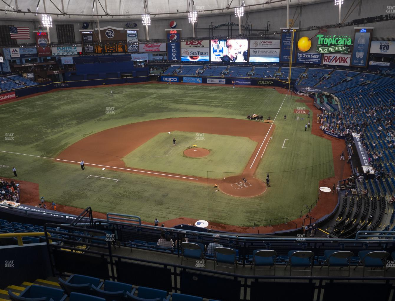 Tampa Bay Rays at Tropicana Field Section 305 View