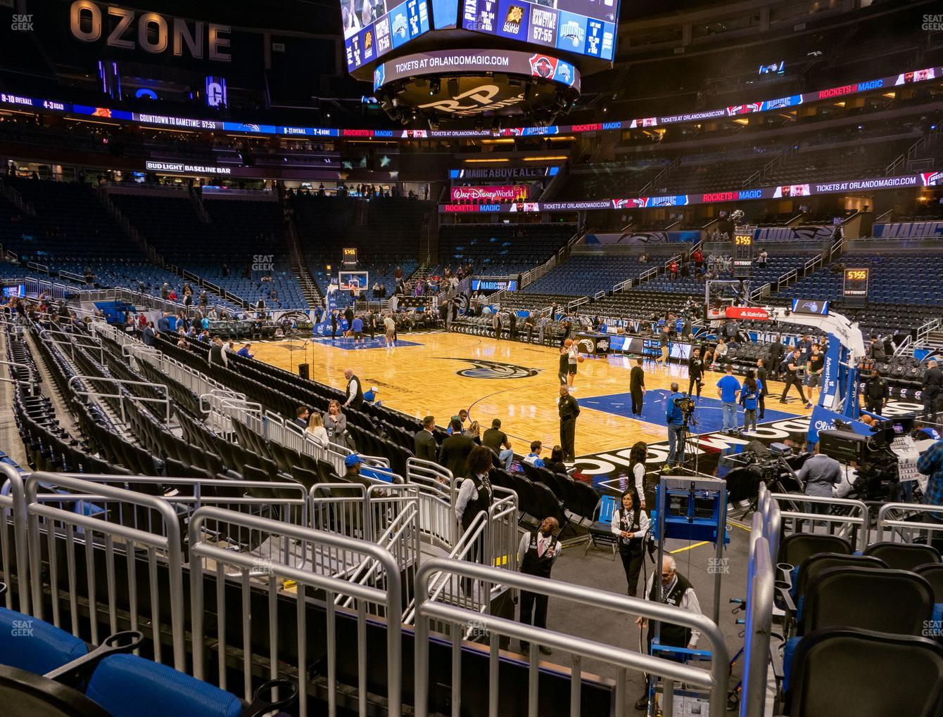 Orlando Magic at Amway Center Section 112 View