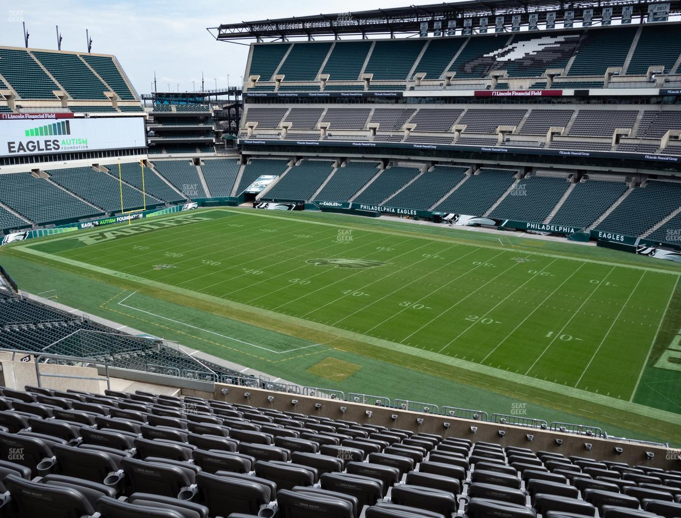 Philadelphia Eagles at Lincoln Financial Field Section C 4 View