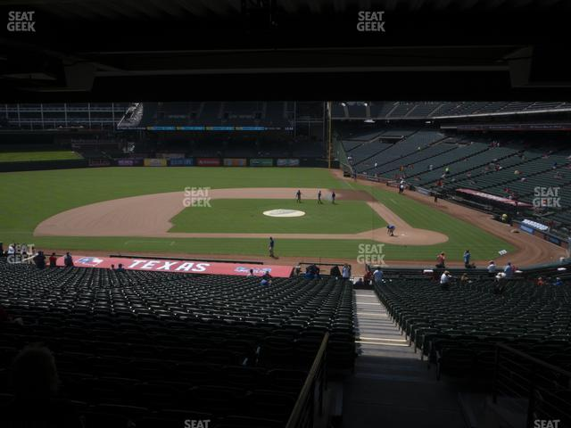 Globe Life Park Section 121 view