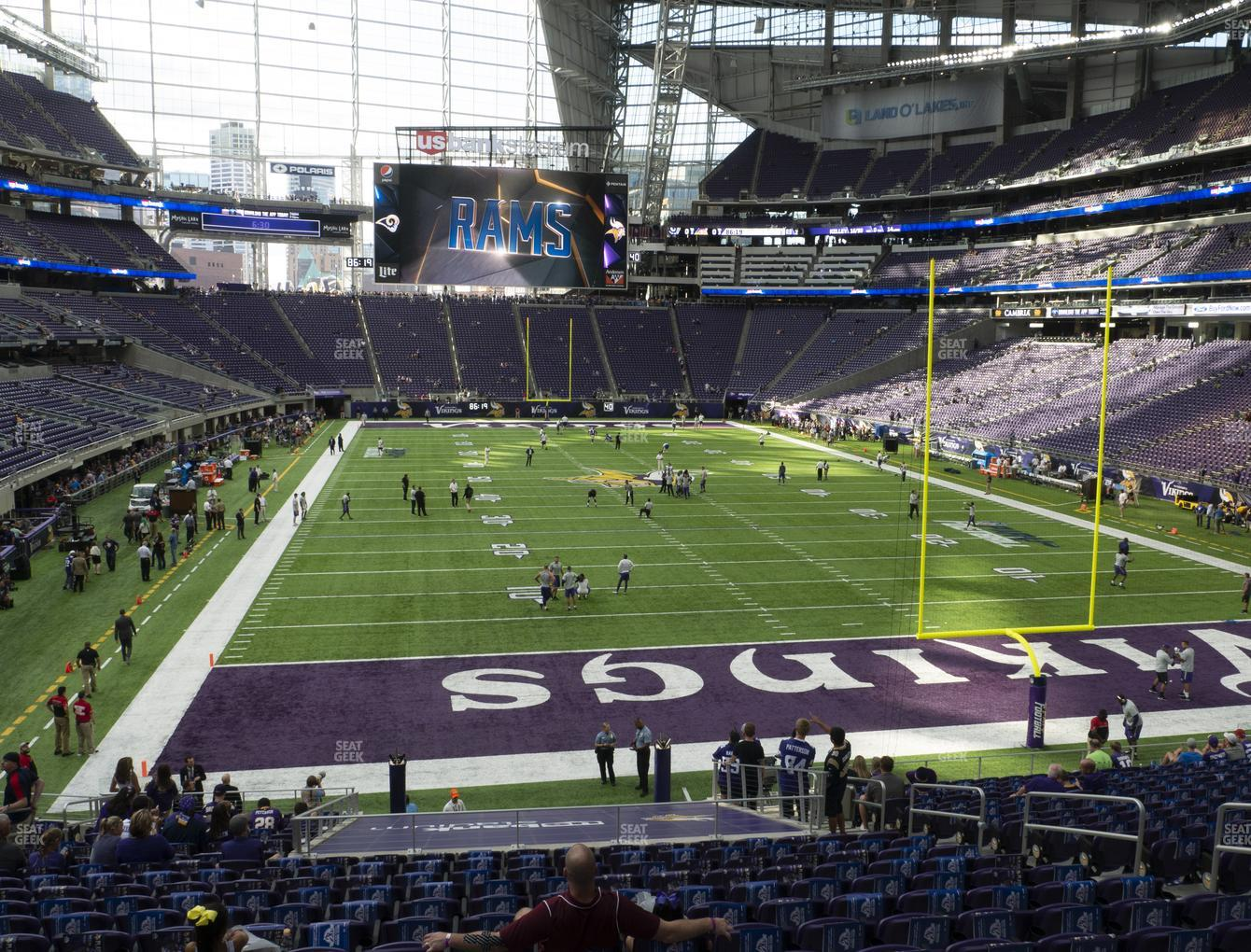 Minnesota Vikings at U.S. Bank Stadium Section 121 View