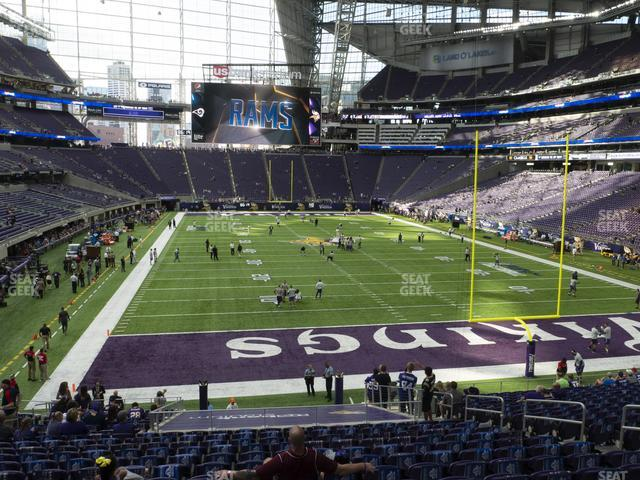 U.S. Bank Stadium Section 121 view