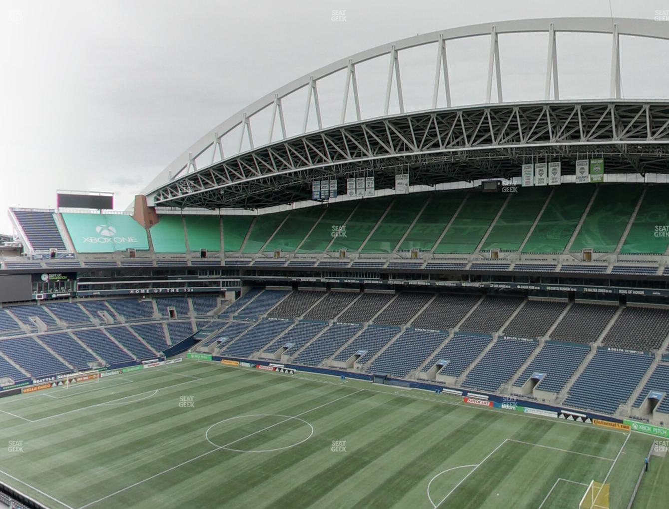 Seattle Sounders FC at CenturyLink Field Upper 303 View