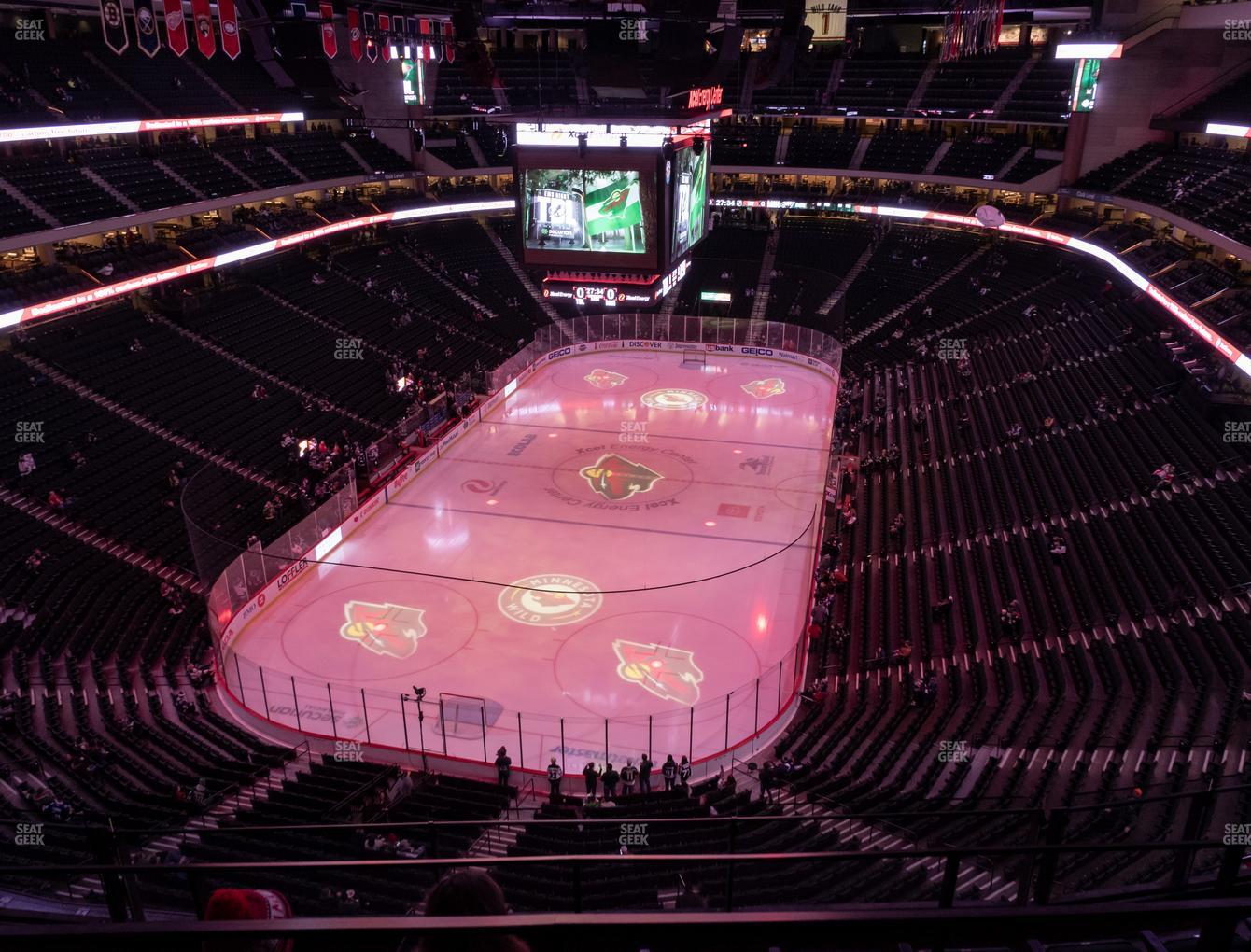 Minnesota Wild at Xcel Energy Center Section 210 View