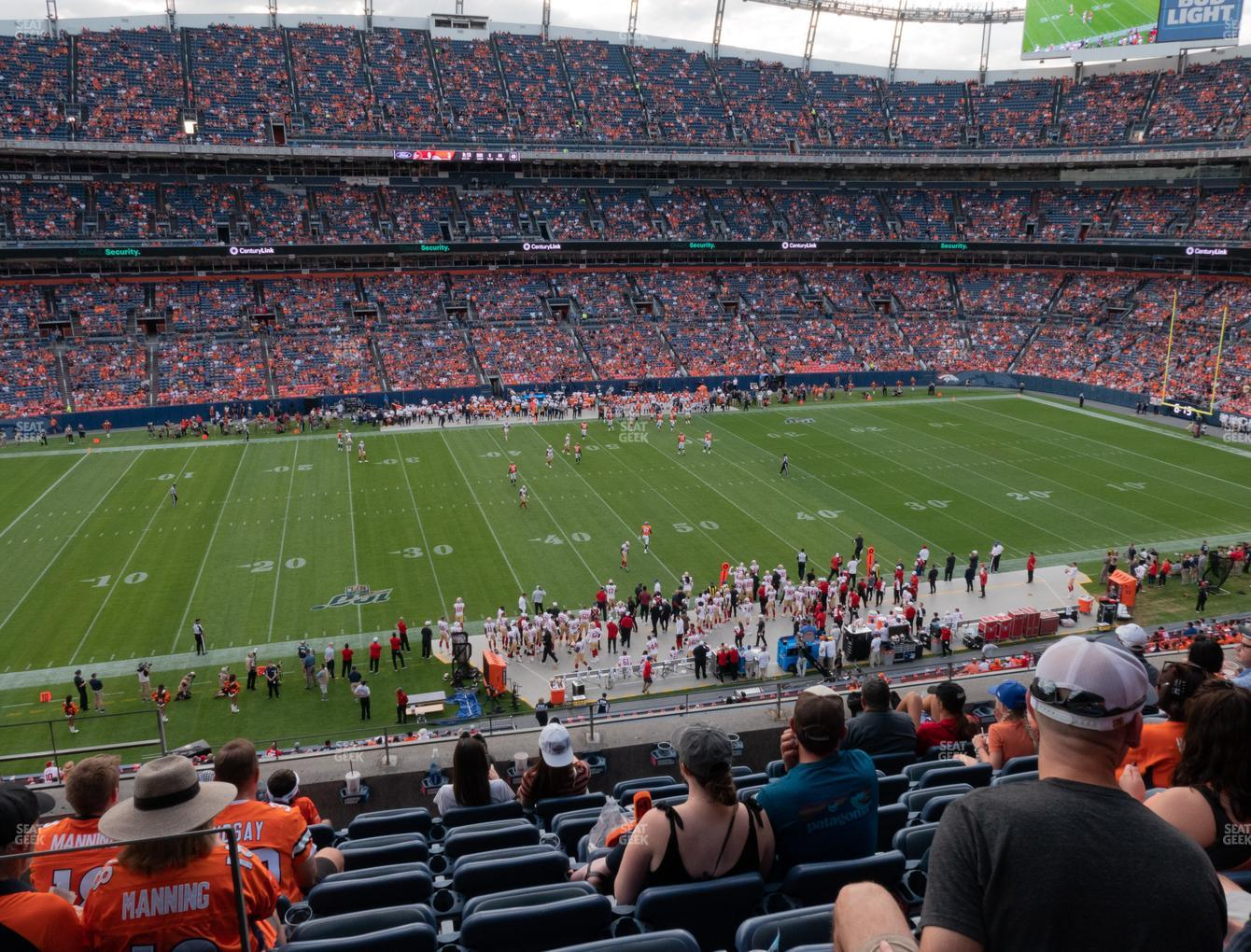 Denver Broncos at Empower Field at Mile High Section 339 View