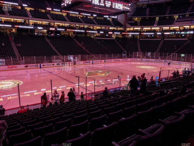 Xcel Energy Center Section 118 view