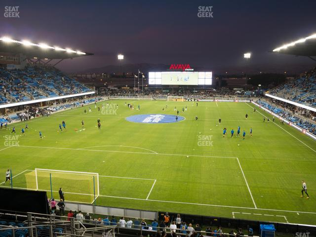 Avaya Stadium Section 119 view