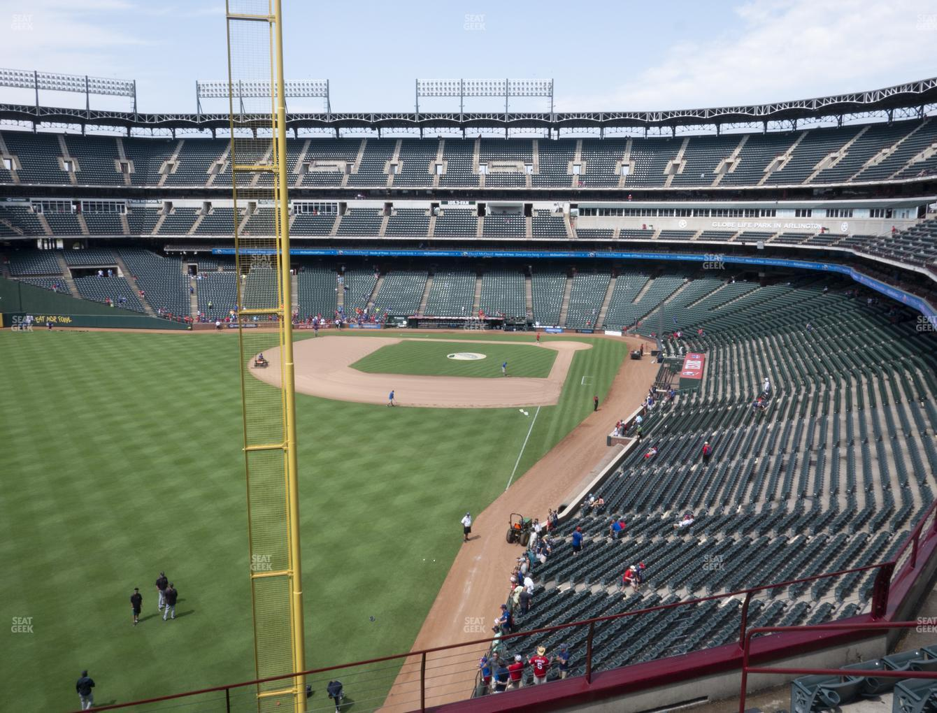 Texas Rangers at Globe Life Park Section 208 View