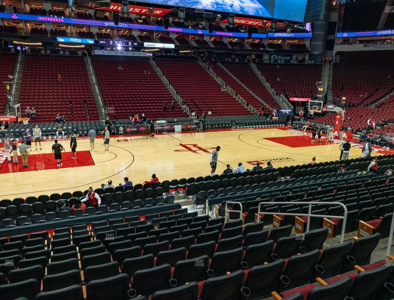 Toyota Center Section 108 Seat Views