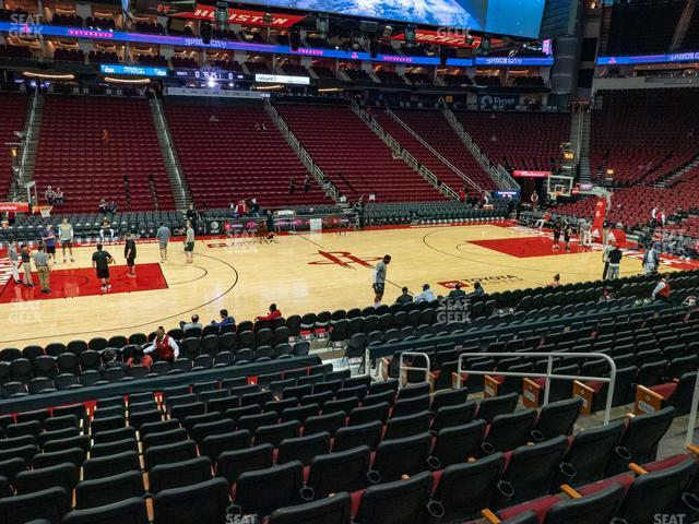 Toyota Center Section 108 view