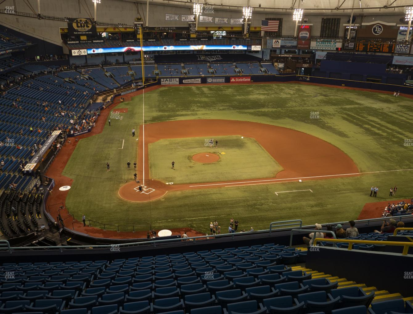 Tampa Bay Rays at Tropicana Field Section 308 View
