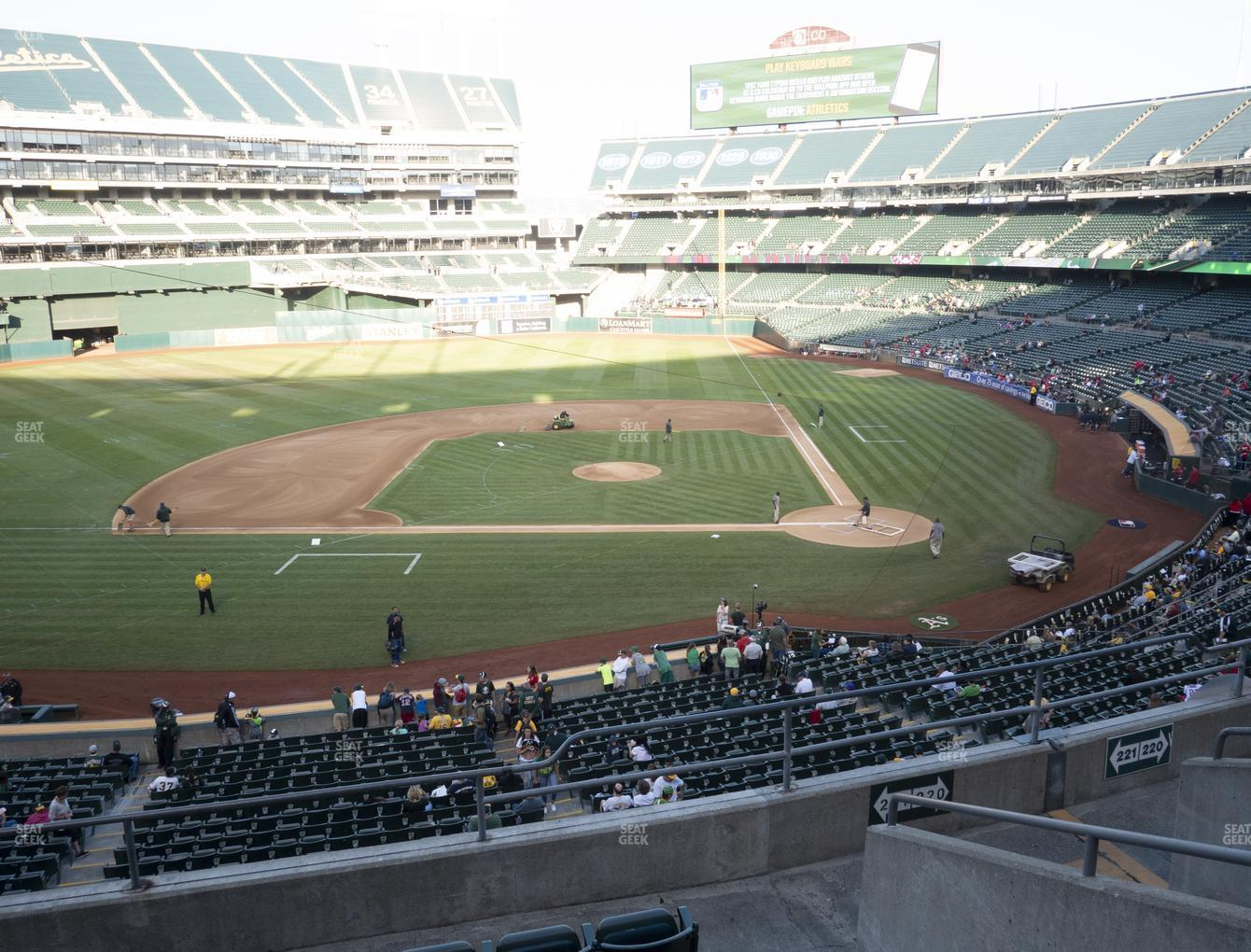 Oakland Athletics at RingCentral Coliseum Section 221 View