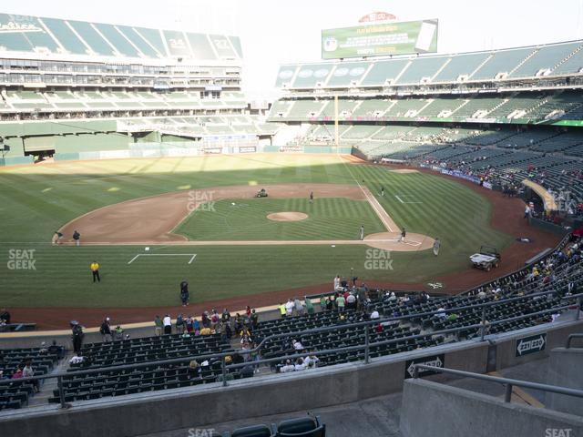Oakland-Alameda County Coliseum Section 221 view