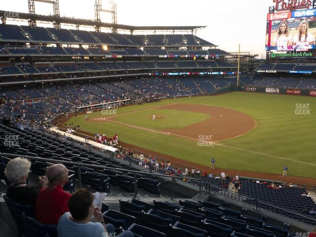 Citizens Bank Park Section 211 view