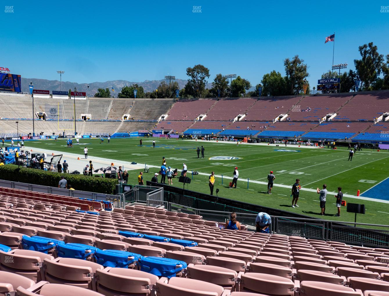 Rose Bowl Lower 21 H Seat Views   SeatGeek
