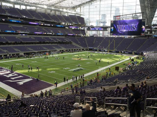 U.S. Bank Stadium Section 114 view