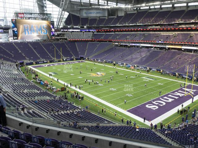 U.S. Bank Stadium Section 227 view