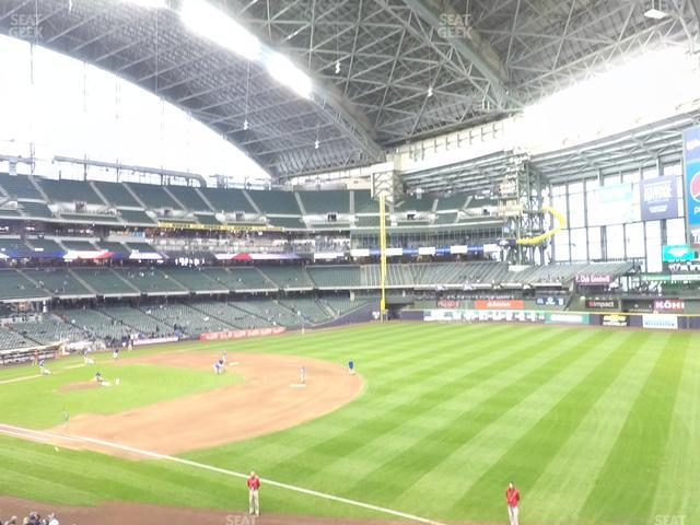 Miller Park Section 209 view