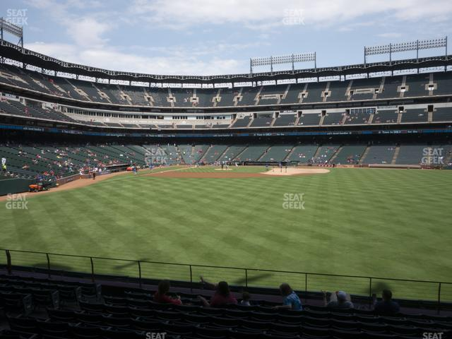 Globe Life Park Section 47 view