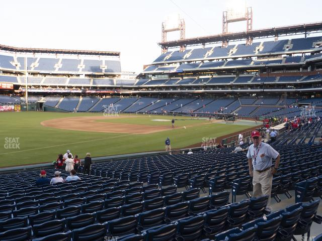 Citizens Bank Park Section 136 view