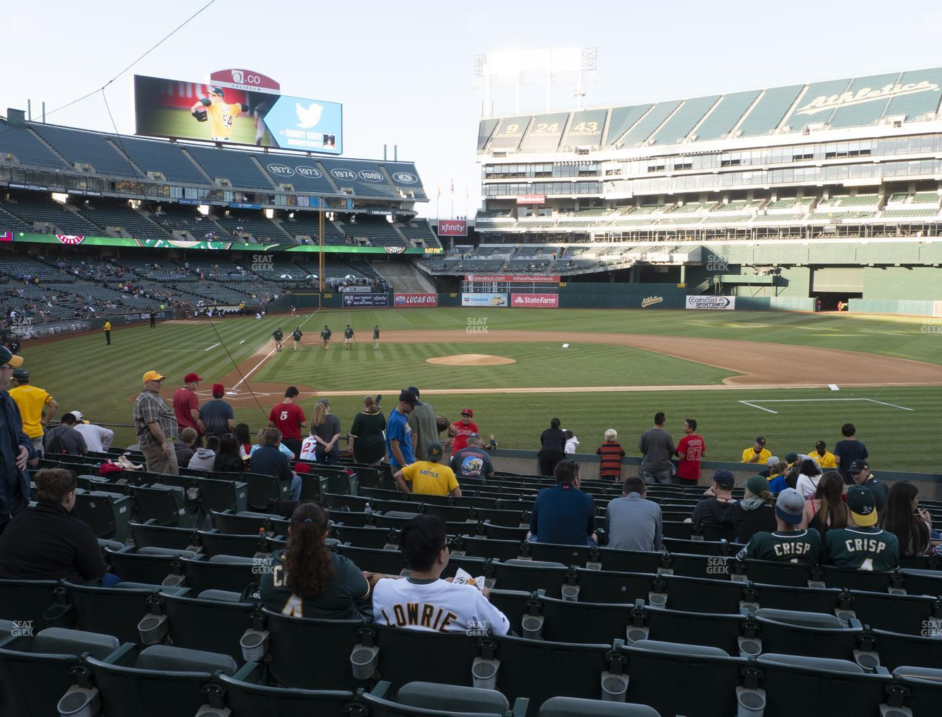 Oakland Athletics at RingCentral Coliseum Section 114 View