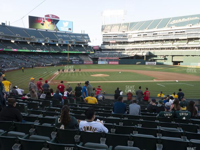 Oakland-Alameda County Coliseum Section 114 view