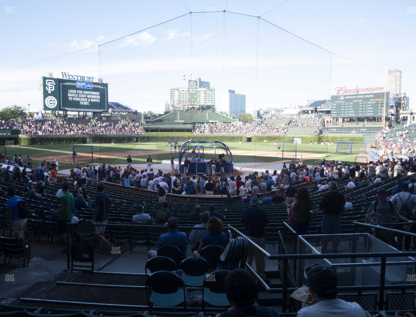 Chicago Cubs at Wrigley Field Section 118 View