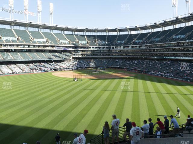 Progressive Field Section 184 view