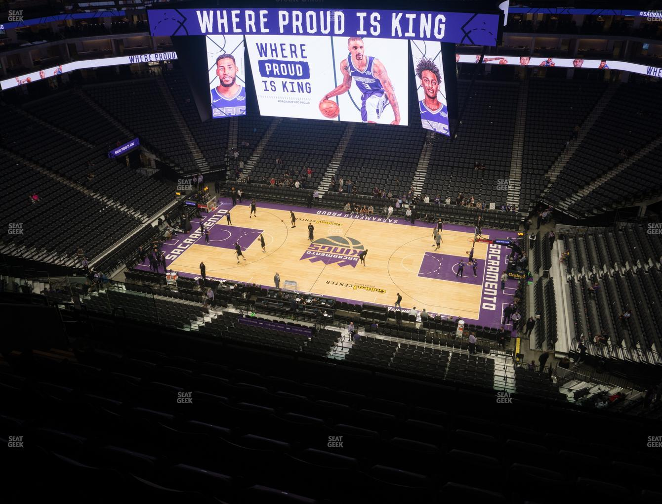Sacramento Kings at Golden 1 Center Section 204 View
