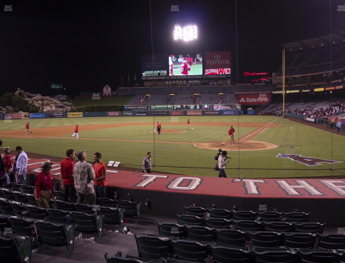 Los Angeles Angels at Angel Stadium of Anaheim Section 115 View