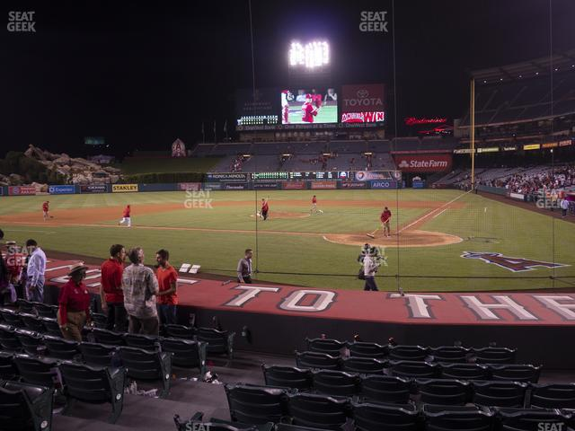 Angel Stadium of Anaheim Section 115 view