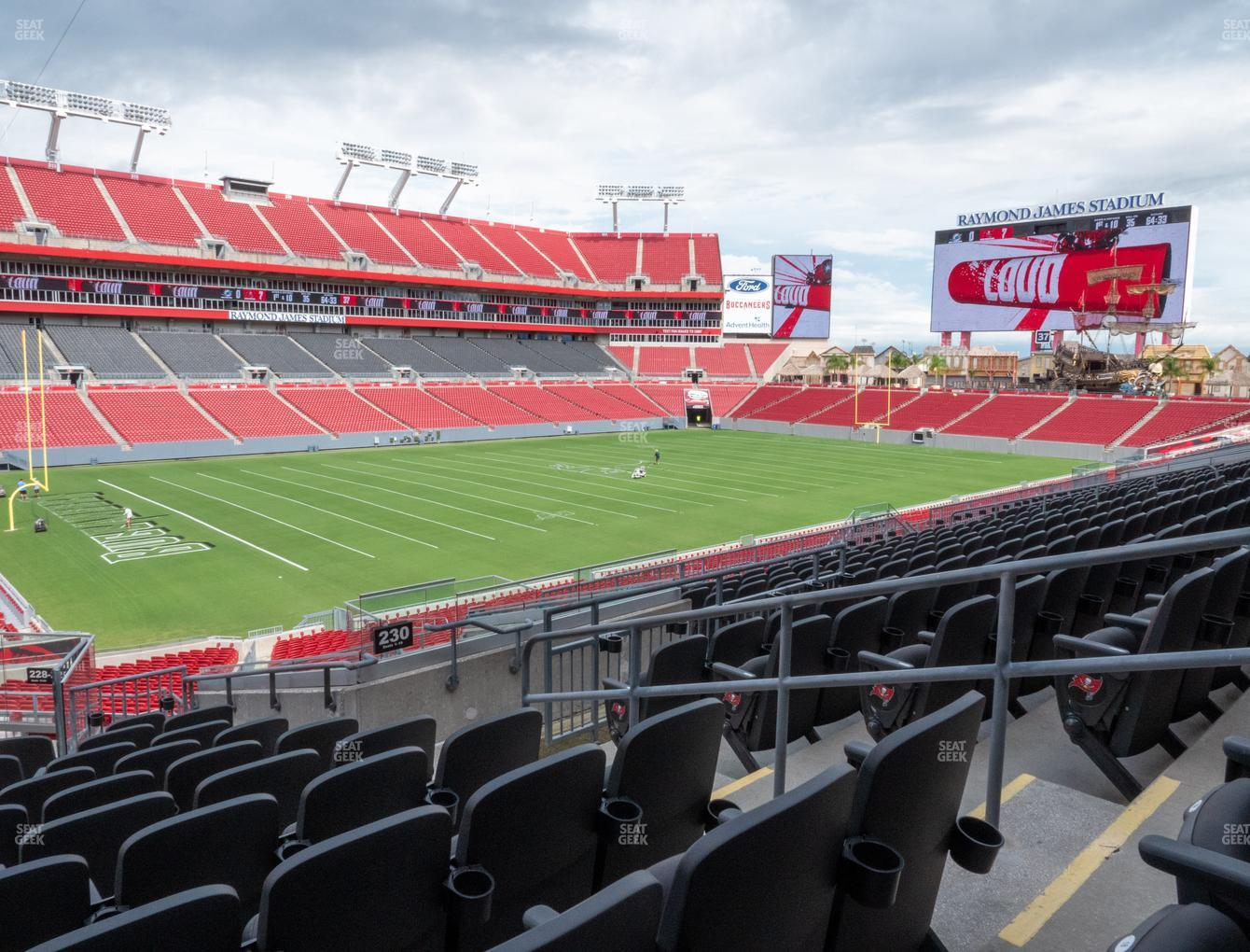 Tampa Bay Buccaneers at Raymond James Stadium Section 230 View