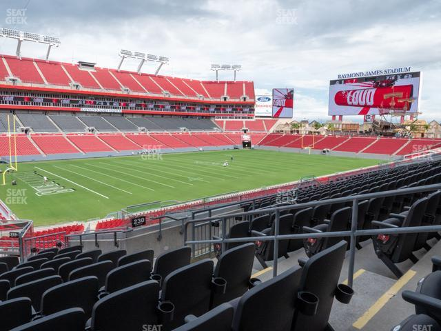 Raymond James Stadium Section 230 view