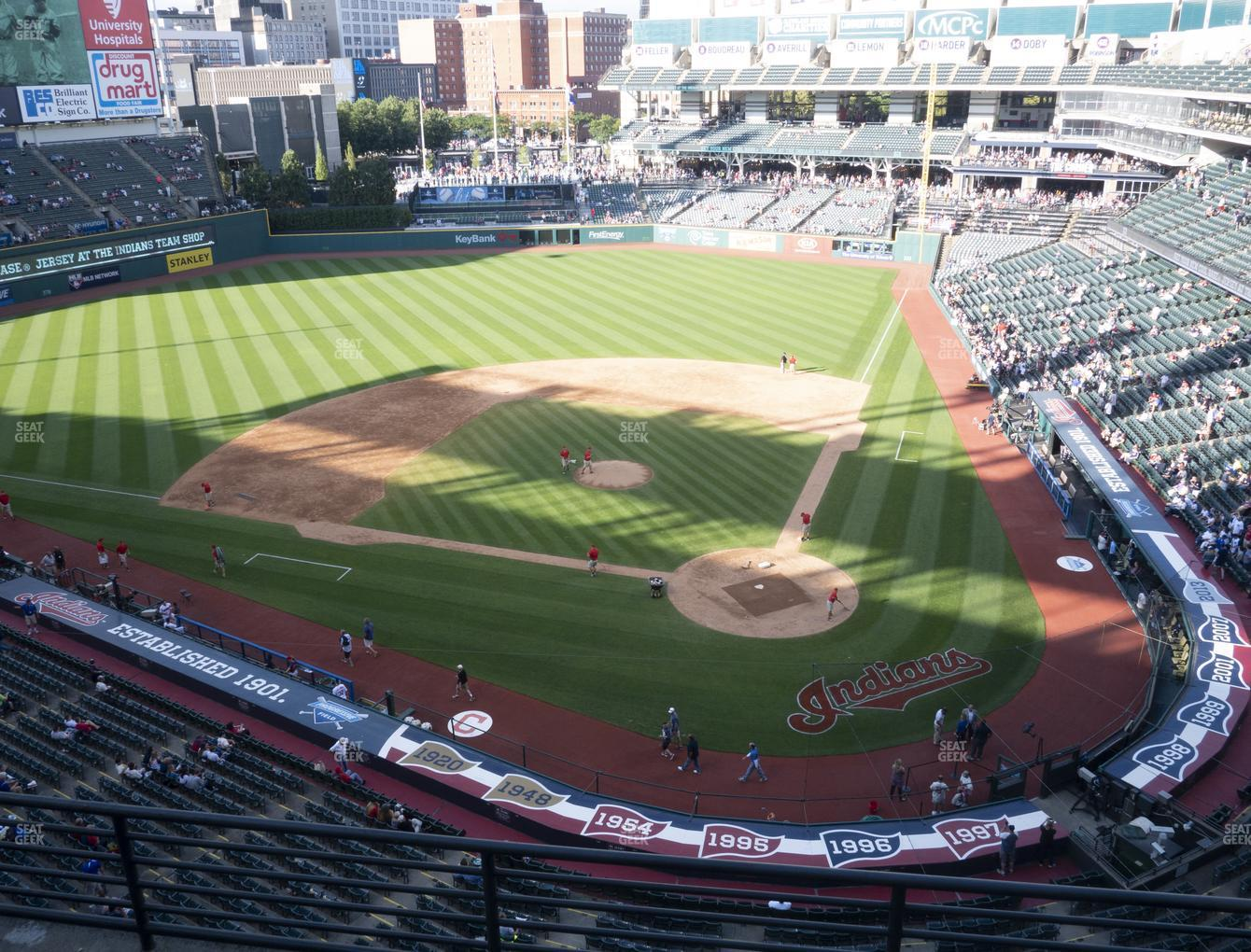 Cleveland Indians at Progressive Field Section 457 View