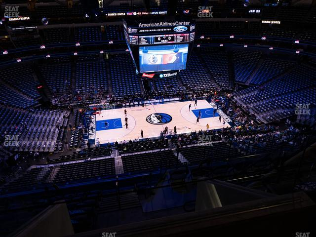 American Airlines Center Section 311 view