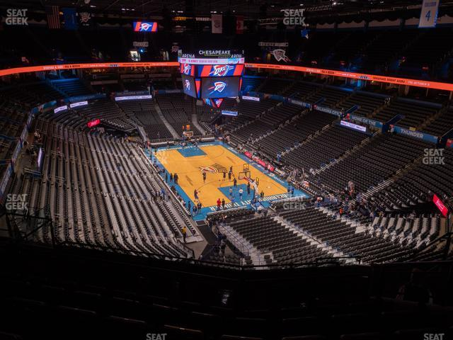 Chesapeake Energy Arena Section 303 view