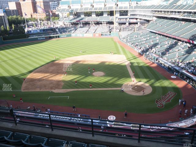 Progressive Field Section 459 view