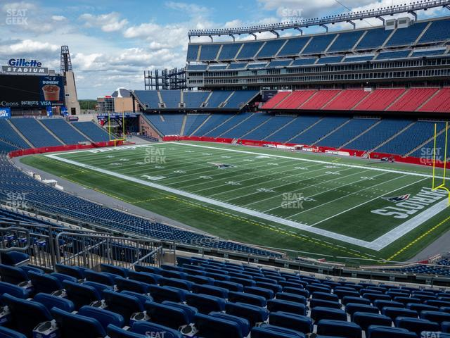 Gillette Stadium Section 226 view