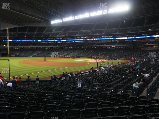 Minute Maid Park Section 107 view
